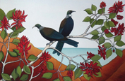 Tui in the Flame Tree I
